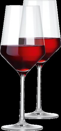 """2 rödvinsglas i serien """"Pure"""" från Schott Zwiesel"""
