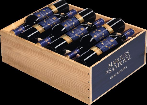 2014 Marqués de Sandoval Gran Reserva Valencia DO, trälåda med 12 flaskor