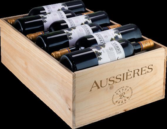 2019 Terre D'Aussières Pays d'Oc IGP, trälåda med 12 flaskor
