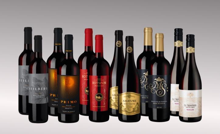 Vinpaket Röda favoriter