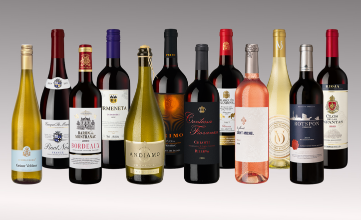 Vinpaket Delikata druvor