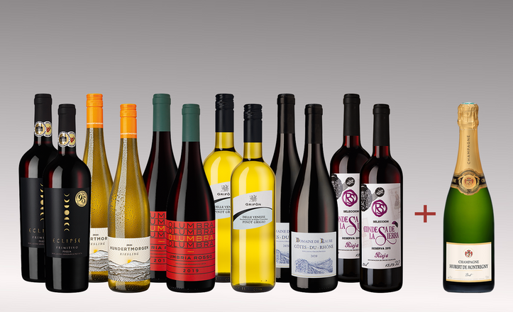 Vinpaket Favoritmix 6x2 + 1 flaskor