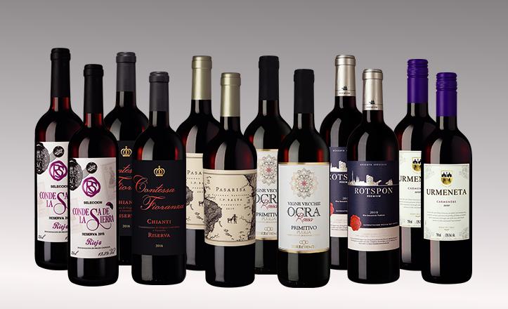 Vinpaket Röda klassiker I